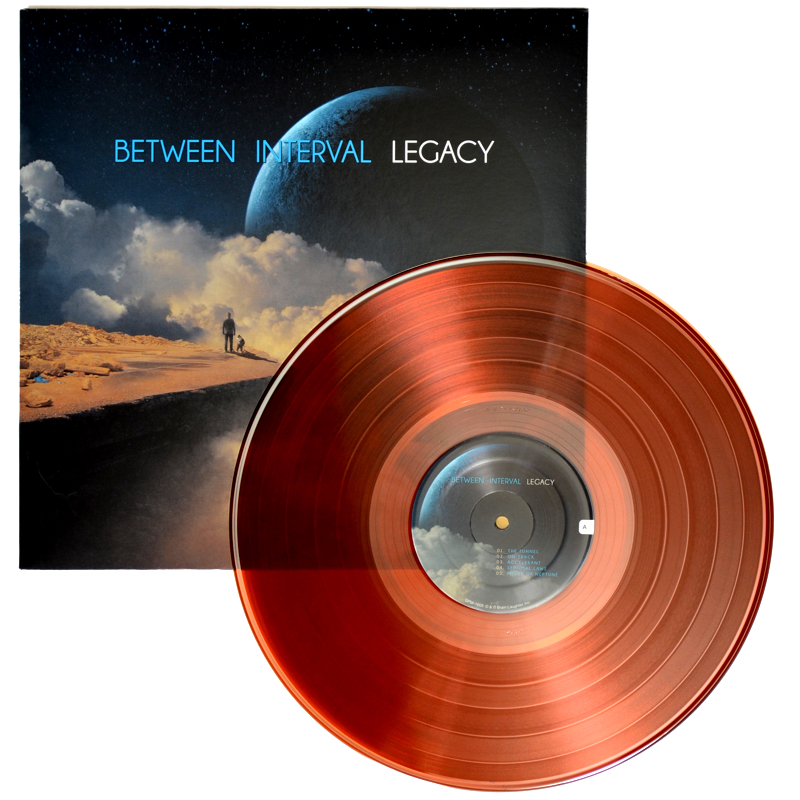 Between Interval - LEGACY LP album cover & colored vinyl record